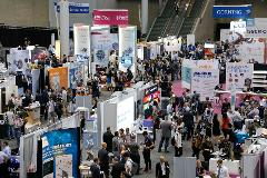 A vibrant exhibit hall at ISSCR 2017